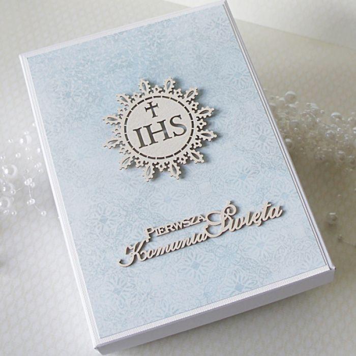 Personalizowana kartka komunijna w pudełku  - nie8n