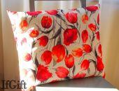 DUŻA poduszka w tulipany