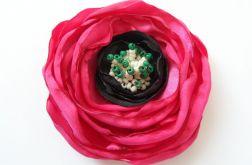 Broszka materiałowa kwiat 035