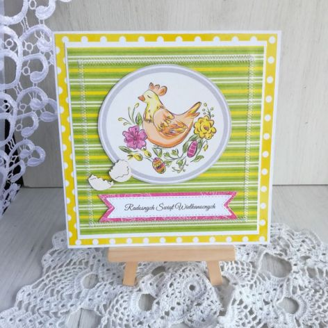 Kartka Wielkanocna z Kurką Wielkanocną nr 2