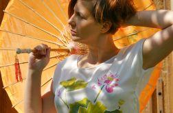Bluzka jedwabna - kwiat lotosu