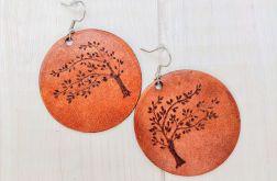Kolczyki ze skóry - drzewo