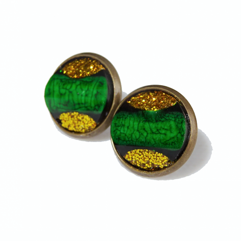 Kolczyki Zielone w Złocie