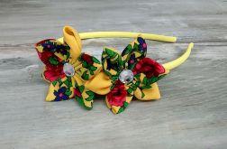 Opaska z kwiatuszkiem dla dziewczynki