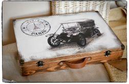 ~Od Ani~ Walizka Walizeczka Stary samochód Vintage
