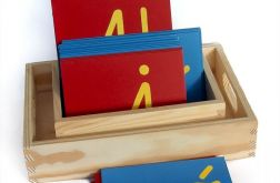 Szortski alfabet mały pisany, Montessori
