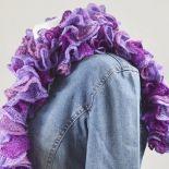 fantazyjny szal - fiolety