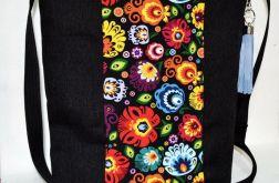 Duża folkowa torba na ramię / listonoszka