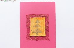 Różowa kartka  świąteczna minimalizm 88