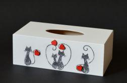Chustecznik-pudełko na chusteczki Koty
