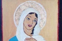 Ikona na desce - Najświętsze Serce Maryi