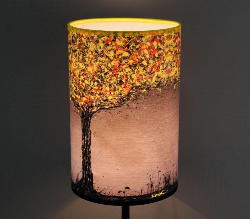 Lampa żÓŁTODRZEW, abażur + podstawa - Wzór, który pobudza
