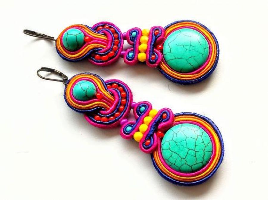 Kolczyki sutaszowe Colorful