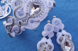 Kryształ & Biel komplet ślubny sutasz