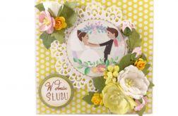 Kartka ślubna z grafiką #076