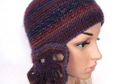 czapka we fioletach do noszenia na 3 sposoby
