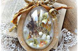 Jajko żółte 15 cm - ozdoba Wielkanocna