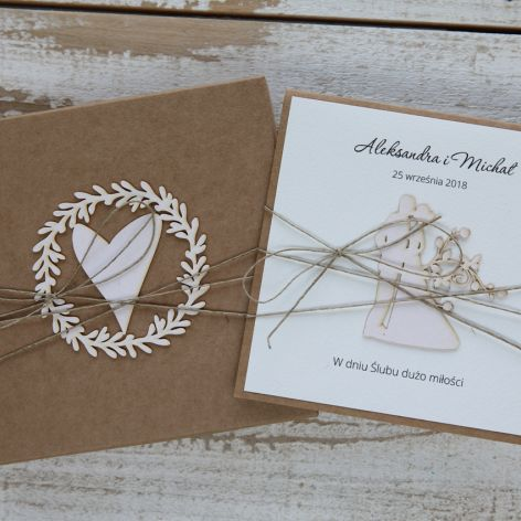 Oryginalna kartka ślubna i pudełko 4