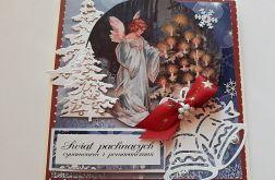 Kartka bożonarodzeniowa z aniołem