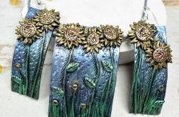 Słoneczniki -kolczyki wkrętki i zawieszka