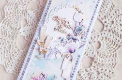Romantyczna kartka ślubna DL GOTOWA