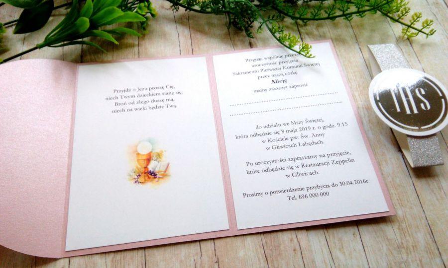 Zaproszenia na komunię w folderze ZK13