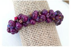 4180 pleciona bransoletka śliwka fiolet