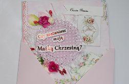 Kartka dla Matki Chrzestnej Chrzest Chrzciny