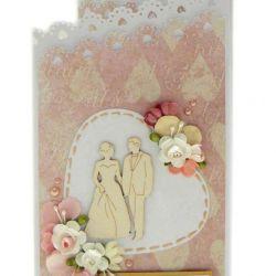 Kartka ślubna kaskadowa na prezent