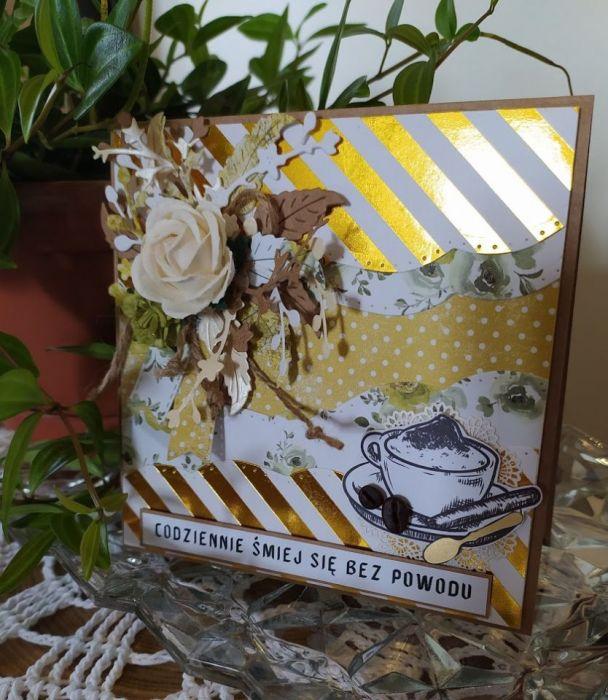 Kartka urodzinowa dla niej pachnąca kawą