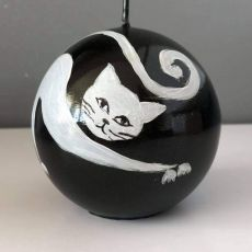 Świeca w kształcie kuli-kot Filemon