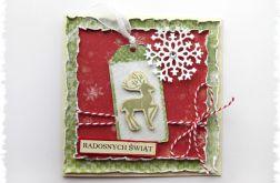 Kartka świąteczna z reniferkiem