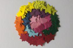 scrapki dla dzieci-kolorowe gwiazdki (200szt)