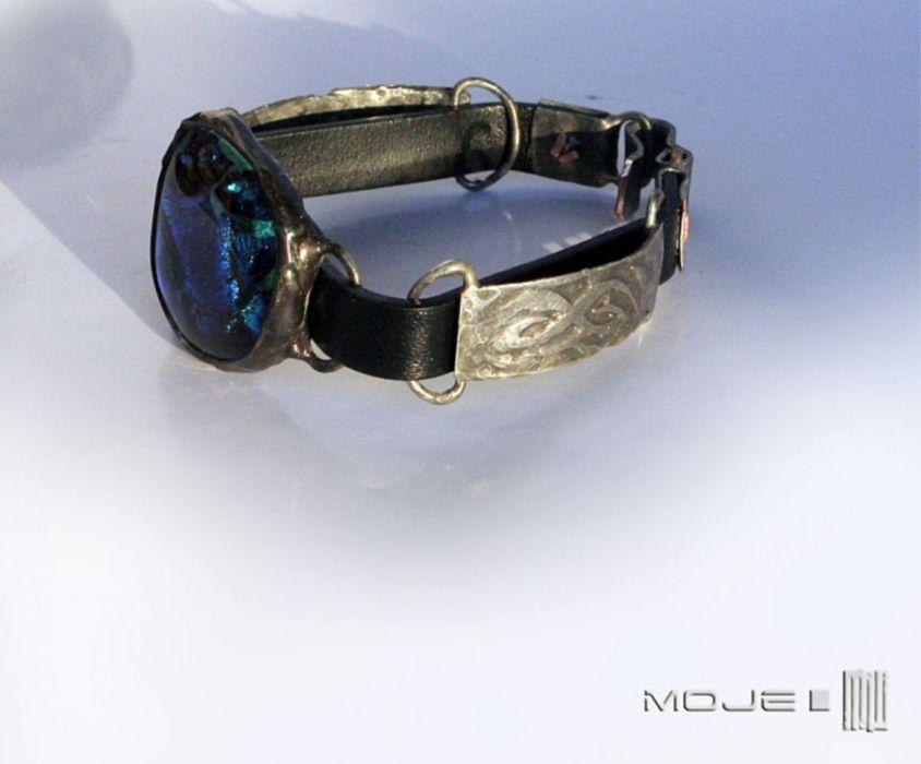 Oko błękitu - szklany kaboszon