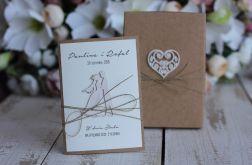 Rustykalna kartka ślubna + pudełko, koperta 2
