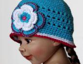 czapka /kapelusik turkusowy