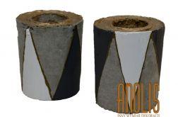 Świeczniki z betonu Trójkąty