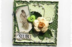 Kartka na ślub z ptaszkami