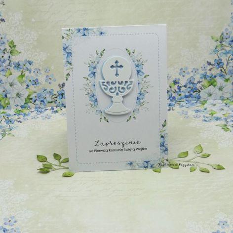 Zaproszenie na Komunię z grafiką ZKG 14