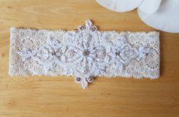 Podwiązka ślubna z elastycznej koronki