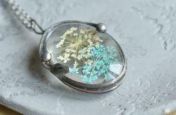 Pogodna łąka - naszyjnik z kwiatami w szkle