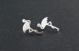 Kolczyki wkrętki Pelikany