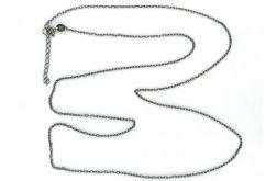 Srebrny łańcuszek, Srebro oksydowane, 70-74cm