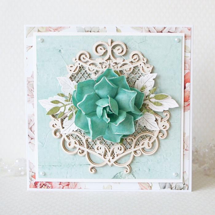 Romantyczna kartka z kwiatem v.2 - 1qw2