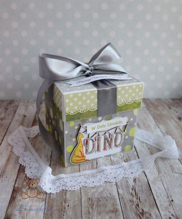 Exploding box DinoLand urodzinowy GOTOWY -
