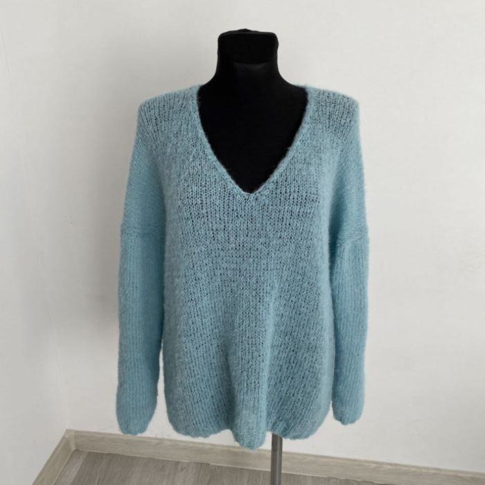 Lekki sweter oversize (alpaka z jedwabiem)