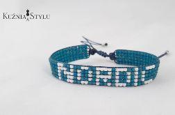 Bransoletka z koralików handmade - NORDIC