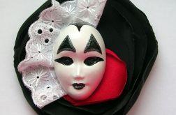 Broszka Masquerade - Królewski Arlekin