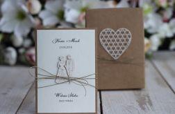 Rustykalna kartka ślubna z pudełkiem 26