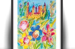 Zaczarowany zamek - plakat do pokoju dziecka